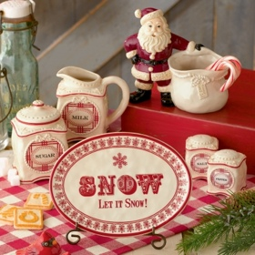 Christmas serving ware